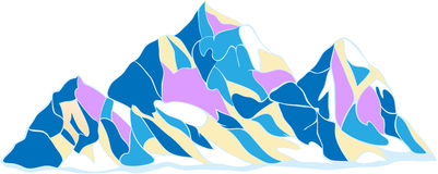 αιχμές τρία βουνών Στοκ Εικόνες