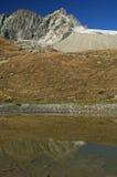 Αιχμές των ελβετικών Άλπεων Valais, Ελβετία Στοκ Φωτογραφία