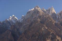Αιχμή βουνών καθεδρικών ναών Passu ένα πρωί, Gilgit Baltistan, PA Στοκ φωτογραφίες με δικαίωμα ελεύθερης χρήσης