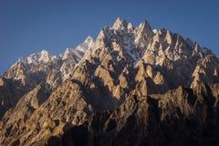 Αιχμή βουνών καθεδρικών ναών Passu στη σειρά Karakoram, Πακιστάν Στοκ φωτογραφία με δικαίωμα ελεύθερης χρήσης