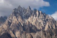 Αιχμή βουνών καθεδρικών ναών Passu στο χωριό Passu, Gilgit Baltistan Στοκ εικόνες με δικαίωμα ελεύθερης χρήσης