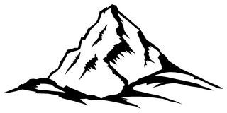 Αιχμή βουνών, σειρά τοπίων Στοκ εικόνα με δικαίωμα ελεύθερης χρήσης