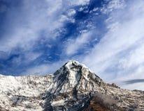 Αιχμή βουνών στη νότια σειρά Annapurna, Νεπάλ Ιμαλάια Στοκ εικόνα με δικαίωμα ελεύθερης χρήσης