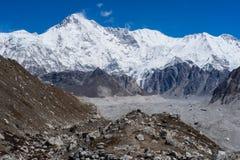 Αιχμή βουνών Oyu Cho, περιοχή Everest, του Νεπάλ Στοκ φωτογραφία με δικαίωμα ελεύθερης χρήσης
