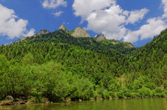 Αιχμή τριών κορωνών στα βουνά Pieniny στοκ φωτογραφίες