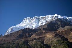 Αιχμή Annapurna στη σειρά του Ιμαλαίαυ, περιοχή Annapurna, του Νεπάλ Στοκ φωτογραφία με δικαίωμα ελεύθερης χρήσης
