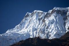 Αιχμή Annapurna στη σειρά του Ιμαλαίαυ, περιοχή Annapurna, του Νεπάλ Στοκ Φωτογραφία