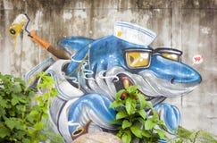 Αιχμηρά γκράφιτι Στοκ Φωτογραφία