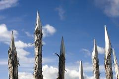 αιχμηρές ακίδες ξύλινες Στοκ Φωτογραφία