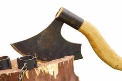 Αιχμηρό τσεκούρι executioner Στοκ εικόνες με δικαίωμα ελεύθερης χρήσης