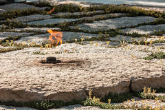 Αιώνια φλόγα στον τάφο JFK Στοκ Φωτογραφία
