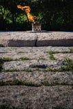 Αιώνια φλόγα John Φ Αναμνηστικό σοβαρό νεκροταφείο του Άρλινγκτον Kennedy Στοκ Φωτογραφία