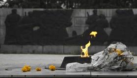 Αιώνιο μνημείο φλογών Στοκ Εικόνες