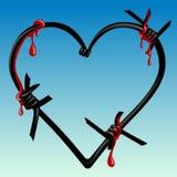 ακίδες καρδιών αίματος Στοκ εικόνα με δικαίωμα ελεύθερης χρήσης