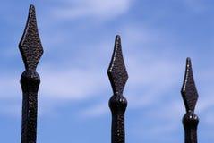 Ακίδες του φράκτη μετάλλων Στοκ Φωτογραφίες