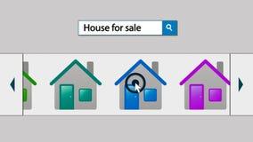 Ακίνητη περιουσία και το Διαδίκτυο Στοκ εικόνα με δικαίωμα ελεύθερης χρήσης