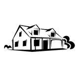 Ακίνητη περιουσία, σκίτσο σπιτιών Στοκ εικόνες με δικαίωμα ελεύθερης χρήσης
