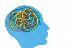 Ακατάστατος εγκέφαλος Στοκ εικόνα με δικαίωμα ελεύθερης χρήσης