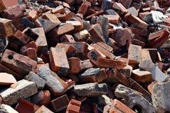 Ακατάστατος σωρός του υποβάθρου τούβλων Στοκ Εικόνες