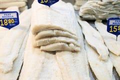 Ακατέργαστα άψητα θαλασσινά Bacalao Στοκ Εικόνες