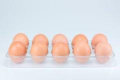 Ακατέργαστα αυγά στο άσπρο υπόβαθρο Στοκ εικόνα με δικαίωμα ελεύθερης χρήσης