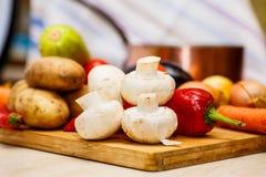 Ακατέργαστα λαχανικά για stew Στοκ Εικόνες