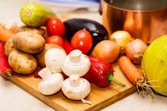 Ακατέργαστα λαχανικά για stew Στοκ Εικόνα