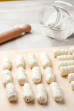 Ακατέργαστα ζυμαρικά για το ορεκτικό Στοκ εικόνες με δικαίωμα ελεύθερης χρήσης