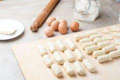 Ακατέργαστα ζυμαρικά για το ορεκτικό Στοκ φωτογραφία με δικαίωμα ελεύθερης χρήσης