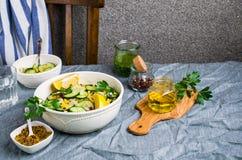 ακατέργαστα λαχανικά σα&lam Στοκ Φωτογραφίες