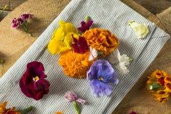 Ακατέργαστα οργανικά εδώδιμα λουλούδια Στοκ Εικόνες