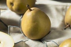 Ακατέργαστα οργανικά καφετιά αχλάδια Angelys Στοκ Εικόνες