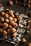 Ακατέργαστα οργανικά ολόκληρα φουντούκια Στοκ εικόνα με δικαίωμα ελεύθερης χρήσης