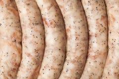 Ακατέργαστα λουκάνικα κρέατος Στοκ Εικόνες