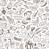 Ακατέργαστα τρόφιμα - άνευ ραφής υπόβαθρο Στοκ Φωτογραφία