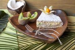 Ακατέργαστα τρόφιμα κέικ καρύδων Στοκ εικόνα με δικαίωμα ελεύθερης χρήσης