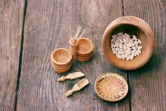 Ακατέργαστα τρόφιμα - ξηρά φασόλια στοκ εικόνα