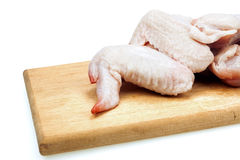 Ακατέργαστα φτερά κοτόπουλου Στοκ Εικόνες