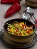 Ακατέργαστα χορτοφάγα τρόφιμα πάπρικας Στοκ εικόνα με δικαίωμα ελεύθερης χρήσης