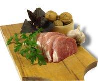 Ακατέργαστες μπριζόλες χοιρινού κρέατος Στοκ εικόνες με δικαίωμα ελεύθερης χρήσης