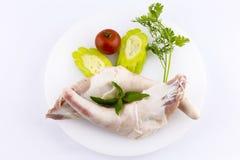 Ακατέργαστες ουρές χοιρινού κρέατος στοκ φωτογραφίες με δικαίωμα ελεύθερης χρήσης