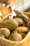 Ακατέργαστες πατάτες στο καλάθι Στοκ φωτογραφία με δικαίωμα ελεύθερης χρήσης
