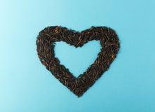 Ακατέργαστη μαύρη καρδιά άγριου ρυζιού Στοκ Φωτογραφία