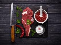 Ακατέργαστη μπριζόλα κρέατος entrecote Στοκ εικόνα με δικαίωμα ελεύθερης χρήσης
