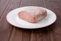 Ακατέργαστη οσφυϊκή χώρα του χοιρινού κρέατος Στοκ εικόνες με δικαίωμα ελεύθερης χρήσης