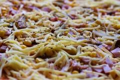 Ακατέργαστη πίτσα Στοκ φωτογραφία με δικαίωμα ελεύθερης χρήσης
