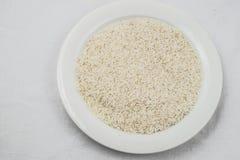 Ακατέργαστη σύσταση ρυζιού Στοκ Φωτογραφία