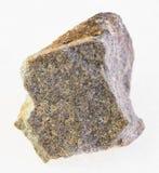 ακατέργαστη Quartzite πέτρα στο λευκό στοκ εικόνες