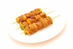 ακατέργαστοι οβελοί κρέατος Στοκ Εικόνα