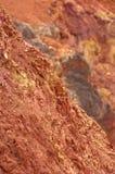 Ακατέργαστος βωξίτης ορυχείων βωξίτη στην επιφάνεια Στοκ Εικόνες